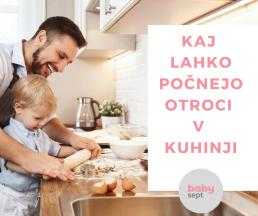 otroci v kuhinji, varnost v kuhinji, razkužilo, dezinfekcija, babysept