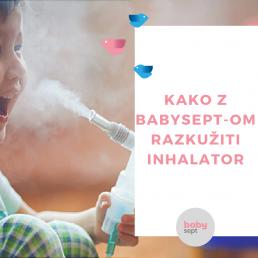 inhalator, razkužilo, razkužilo za inhalator, babysept, razkuževanje inhalatorja